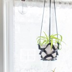 Leather Plant Hanger - Make this easy DIY leather plant hanger with this tutorial.