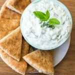 Make refreshing tzatziki Greek cucumber sauce/dip