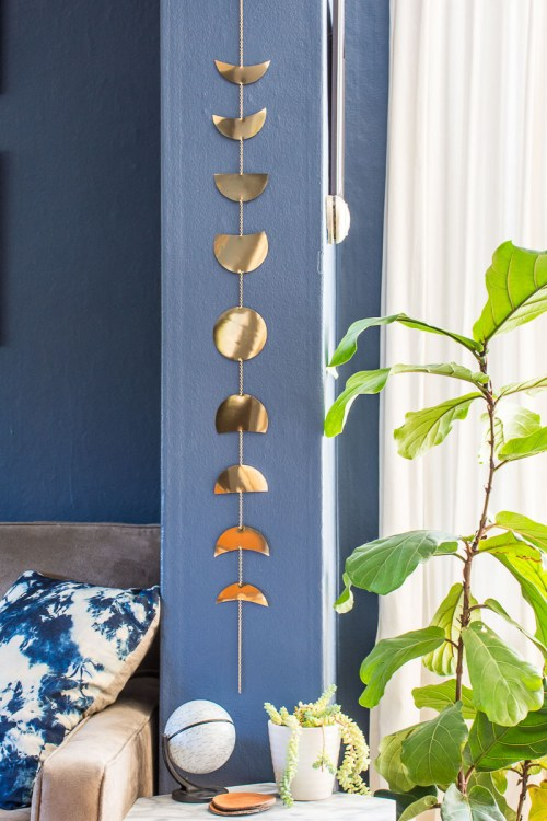 Easy Metal Diy Moon Phases Wall Hanging