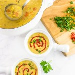 Rich and creamy vegan curried coconut corn chowder