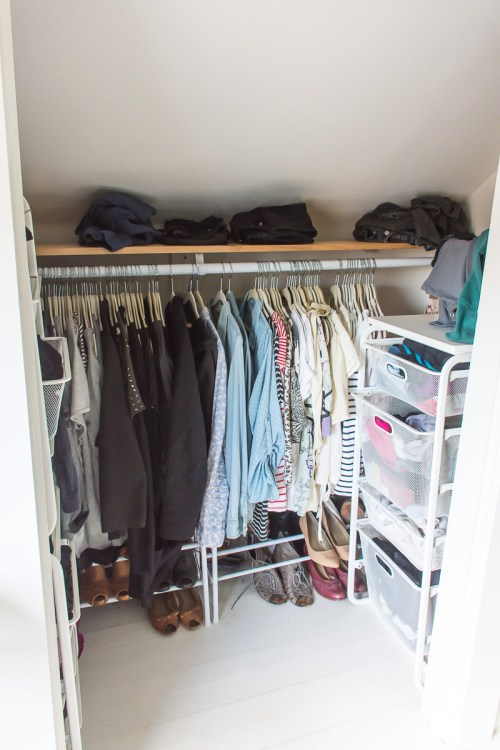 My closet, pre-makeover
