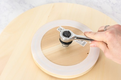 Wood Slice Lazy Susan Ikea Hack