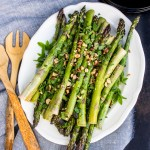 Roasted Asparagus with Hazelnuts and Mint