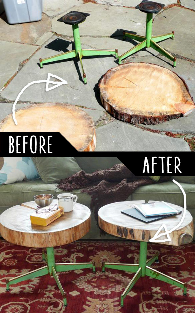 Cheap Homemade Furniture Ideas DIY Furniture Hacks Accent Tables