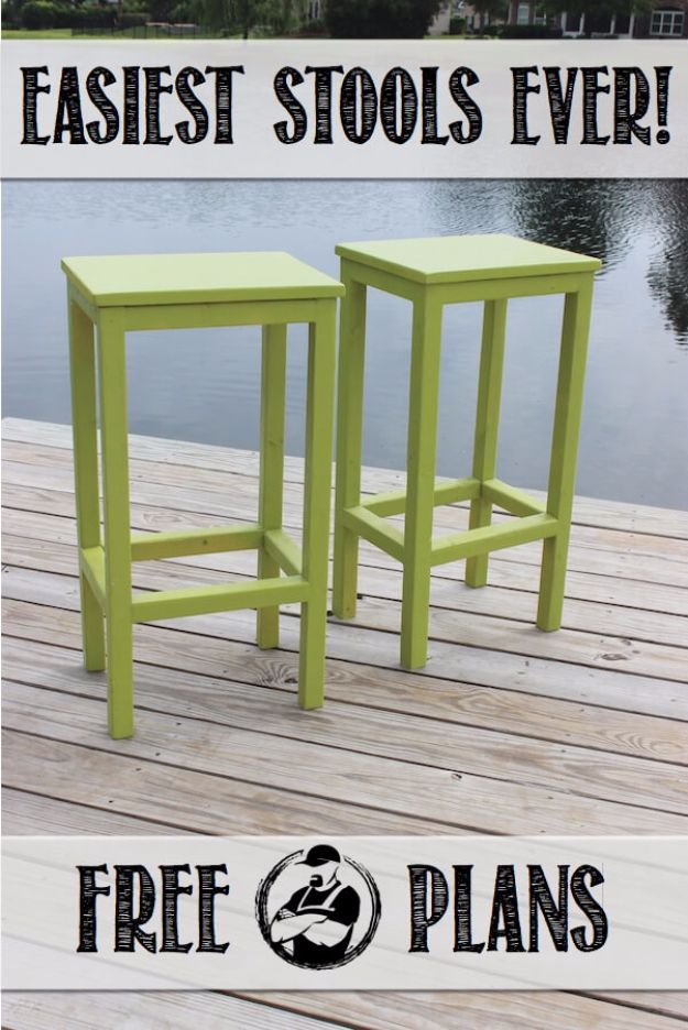 DIY Barstools  Easy Bar Stools And Cheap Ideas For Seating  Creative Build Your Own Bar Stools46