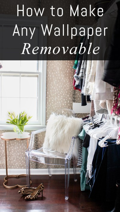 How to Make Wallpaper Removable - Erin Spain
