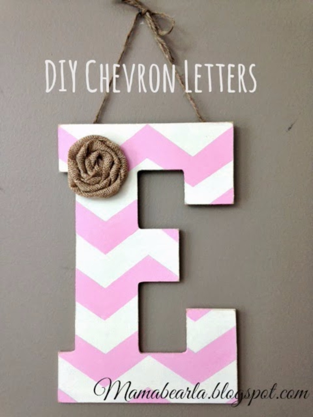 41 Amazing DIY Architectural Letters for Your Walls DIY Wall Letters and Initals Wall Art   DIY Chevron Letters   Cool  Architectural Letter Projects