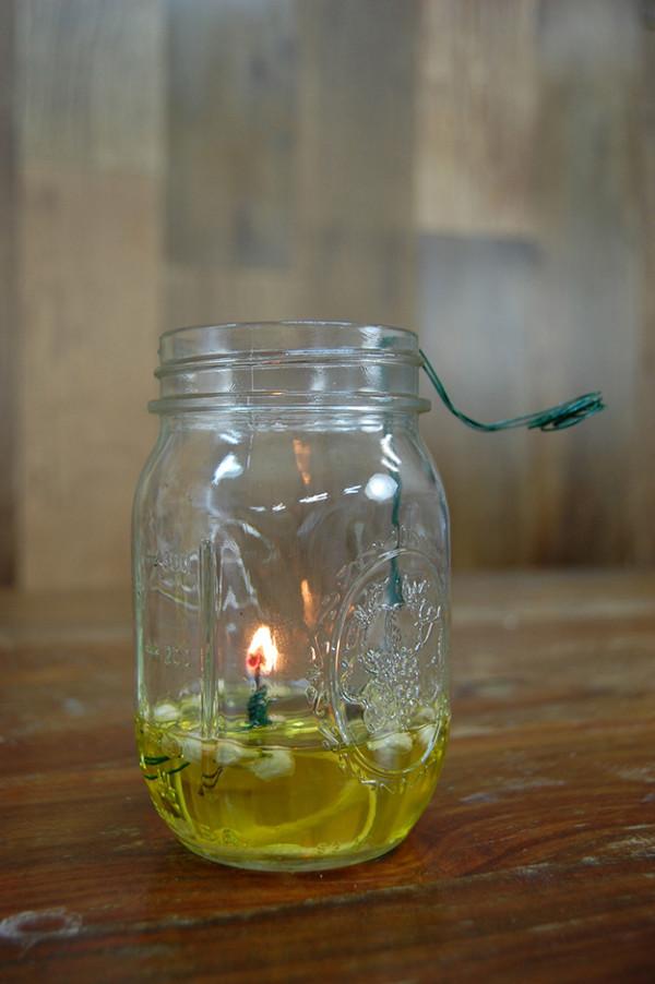 homemade oil lamp
