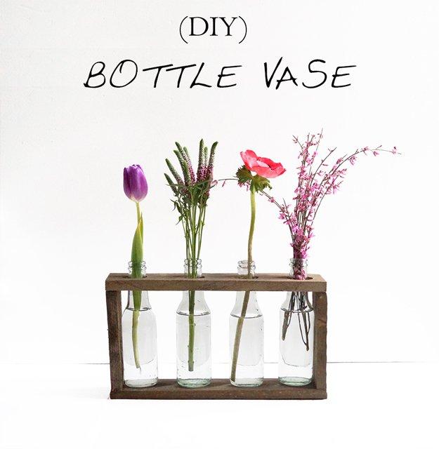 Bottle vase for Diy crafts for beginners