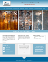 Andover Retractable Screens Website