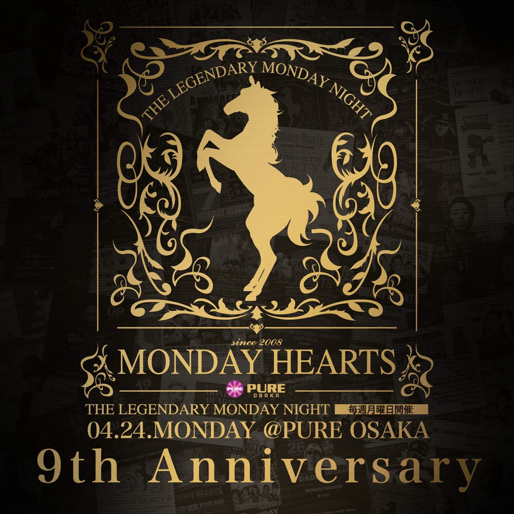 MONDAY HEARTS at PURE OSAKA