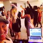 DJing at Studio 450