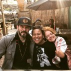 Artists Tim Okamura and Cecilie Beck on my radio show, Primary Food at Heritage Radio Network