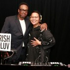 Jarobi White, A Tribe Called Quest showin' luv at my booth, Hammerstein Ballroom, WAFF gala NYC. I've learned a lot from him.