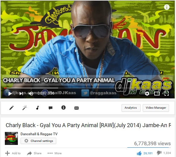Charly Black - Party Animal promoted for Charly Black
