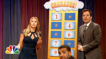 Drake & Scarlett Johansson play Charades with Jimmy Fallon (Video)