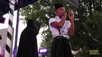 Pharrell Introduces Janelle Monae at Afro Punk in NYC