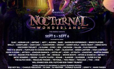 Nocturnal Wonderland 2014 Lineup Artwork