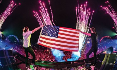 Old Glory: DJs flying the flag at EDC. ©Freedom Film/Insomniac