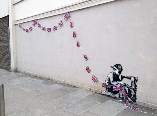New Banksy Spotted in London   Child Labor in the U.K.