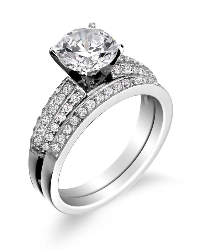 engagement rings wedding bands platinum wedding band Engagement ring with wedding band