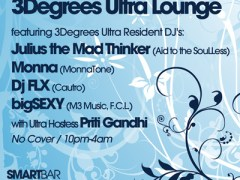6/26 – The Return of 3 Degrees Ultra Lounge @ Smartbar – Chicago
