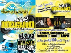 7/31 – Lady Underground Thurs @ Lava – Chicago