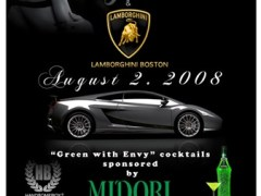 "8/2 – Lamborghini ""Green with Envy"" Event @ Mantra – Boston, MA"