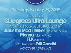 1/29 – 3degrees Ultra Lounge continues @ Smartbar – Chicago