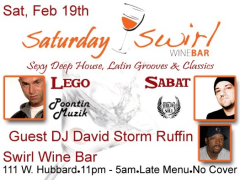 Sa, 2/12/11 Saturday Swirl! w/ DAVID SABAT, LEGO & David Storm Ruffin – Chicago