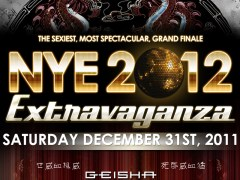 NYE 2012 EXTRAVAGANZA at GEISHA HOUSE 12/31/11 – Hollywood, Ca