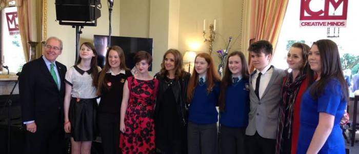 DMEP students with US Ambassador to Ireland