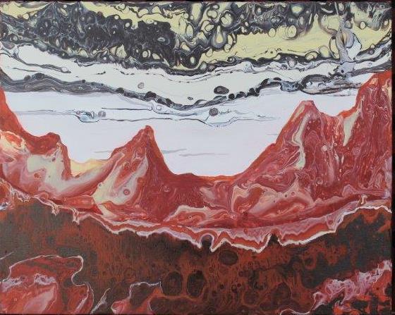 Martian Sunset II 50cm x 40.5cm