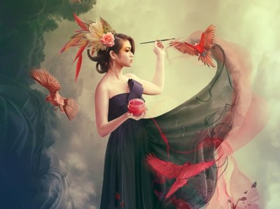 Her Paintings Come to life - Fantasy & Abstract Background Wallpapers on Desktop Nexus (Image ...