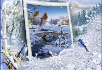 Birds near the bridge - 3D and CG & Abstract Background ...