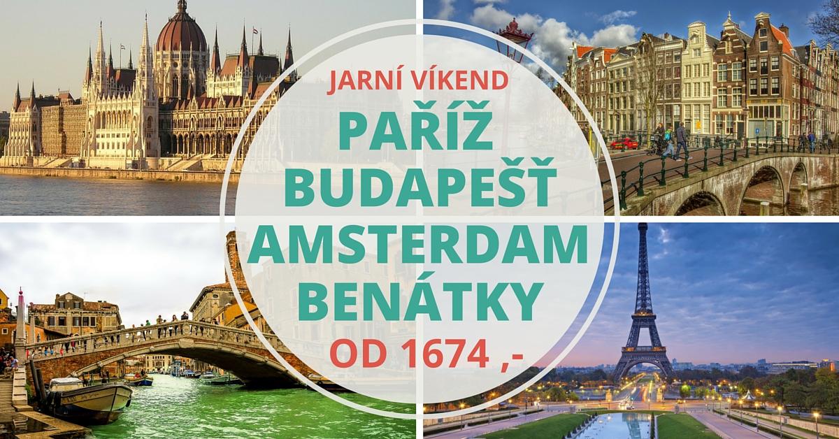 Letenky na přání: Benátky, Paříž, Amsterdam a Budapešť z Prahy