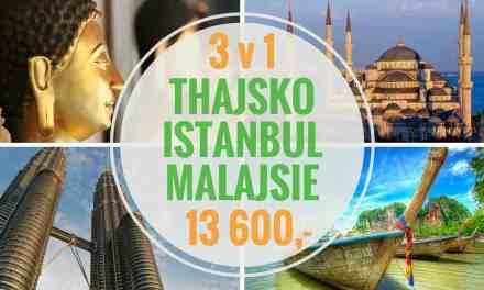 Super akce 3 v 1 – Letenky do Thajska, přes Istanbul a zpět z Malajsie za 13 600,-