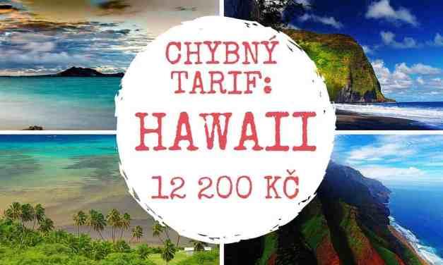 ERROR FARE – využijte chybu aerolinek – letenky na Hawaii od 12 200