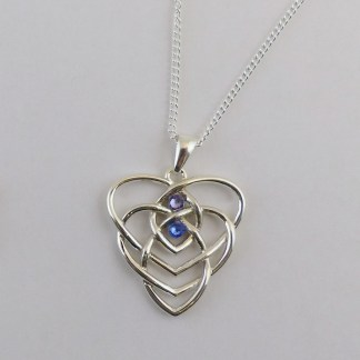 Motherhood Knot Two Birthstones