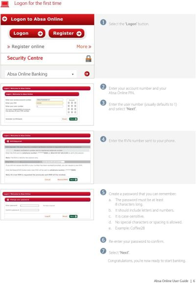 User Guide. Absa Online. Live easy. Prosper. - PDF