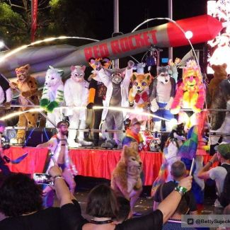World's biggest furry joke from the OzFurs at Sydney's LGBT Mardi Gras.