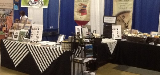 Here's our booth at the Great Homeschool Convention in Greenville, SC.