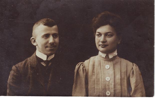 Ефим и Евгения Гордоны. Рига, 1907. Из личного архива внучки Е.М. Гордона Марии Борисовны Друговой