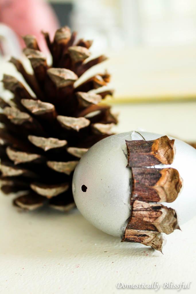 Faux acorn christmas tree ornaments for Acorn decoration