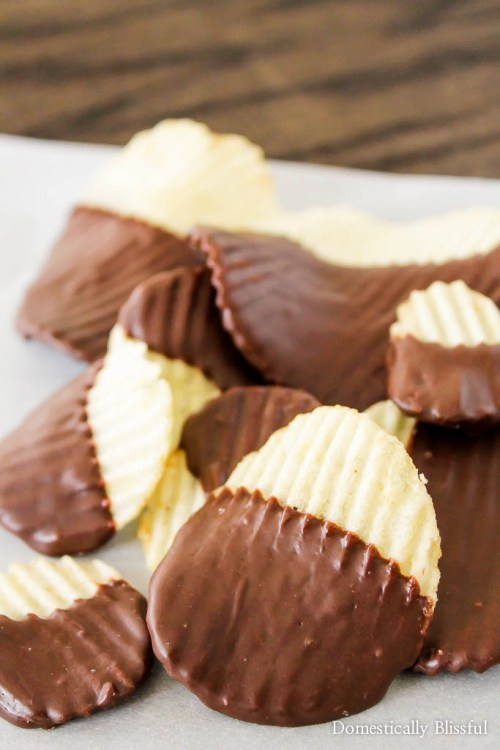 enjoyed potato chips until you have dipped them in dark chocolate ...