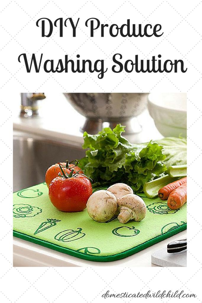 DIY Produce Washing Solution