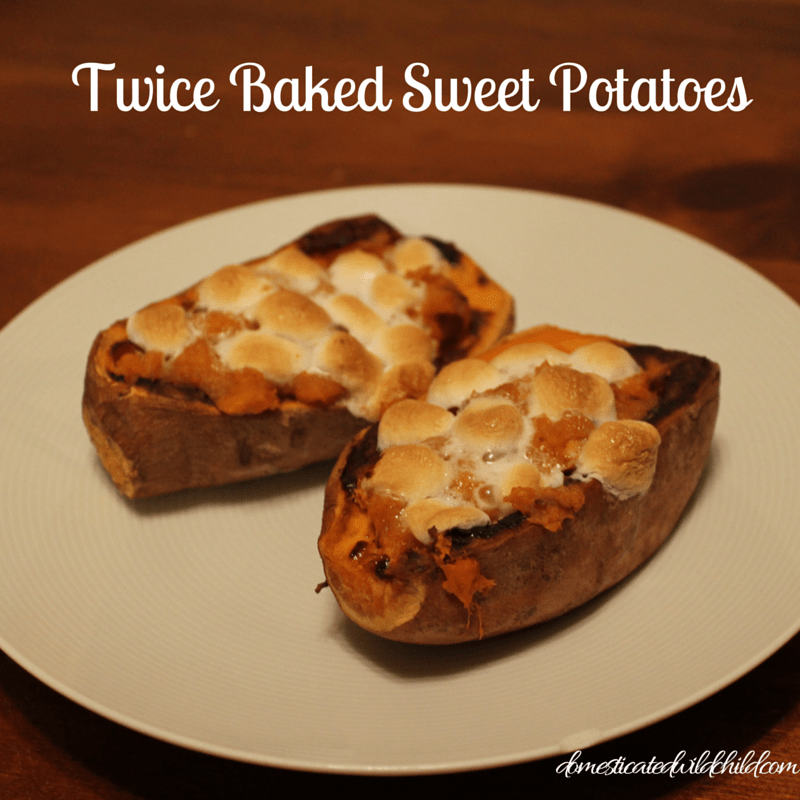 Twice Baked Sweet Potatoes - Domesticated Wild Child