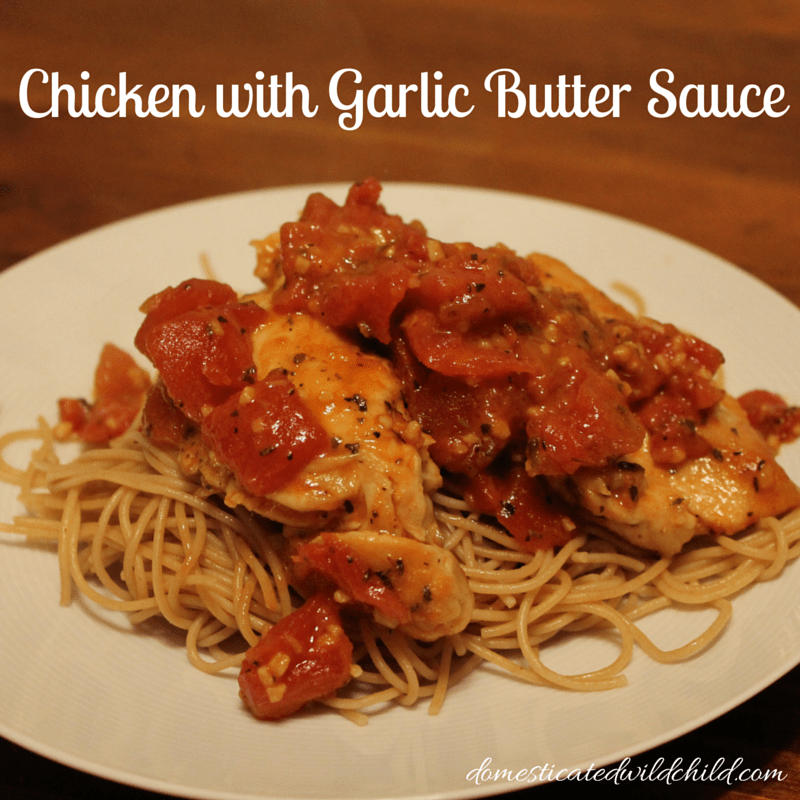 Chicken with Garlic Basil Sauce