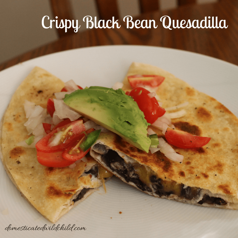 Crispy Black Bean Quesadilla