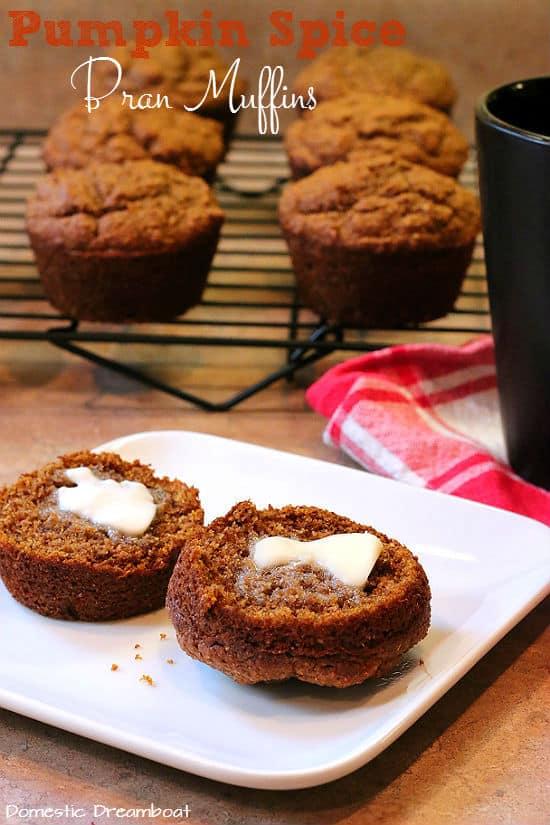 Pumpkin Spice Bran Muffins